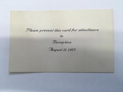 Admittance Card